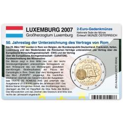 M�nzkarte f�r 2-Euro Gemeinschaftsm�nze Luxemburg 2007