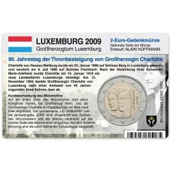 Münzkarte für 2-Euro Gedenkmünze Luxemburg 2009