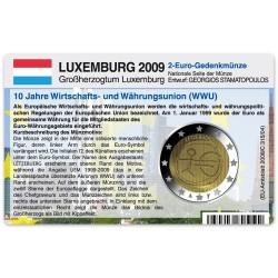 Münzkarte (ohne Münze) für 2-Euro Gemeinschaftsmünze Luxemburg 2009