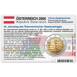 M�nzkarte f�r 2-Euro Gedenkm�nze �sterreich 2005