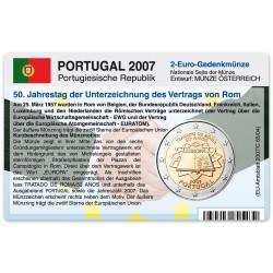 Münzkarte (ohne Münze) für 2-Euro Gemeinschaftsmünze Portugal 2007