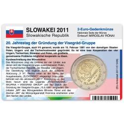 M�nzkarte f�r 2-Euro Gedenkm�nze Slowakei 2011