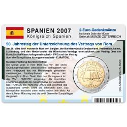 Münzkarte (ohne Münze) für 2-Euro Gemeinschaftsmünze Spanien 2007