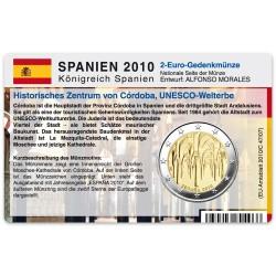 Münzkarte (ohne Münze) für 2-Euro Gedenkmünze Spanien 2010