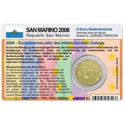 Münzkarte (ohne Münze) für 2-Euro Gedenkmünze San Marino 2008
