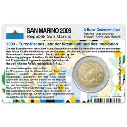 M�nzkarte f�r 2-Euro Gedenkm�nze San Marino 2009