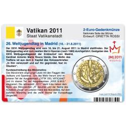 Münzkarte (ohne Münze) für 2-Euro Gedenkmünze Vatikan 2011