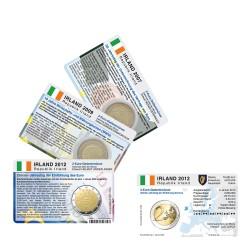 Set - alle Münzkarten (ohne Münze) Irland für 2-Euro Gemeinschaftsmünze 3 Stück