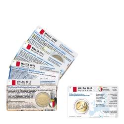 Set - alle M�nzkarten Malta f�r 2-Euro Gedenkm�nzen