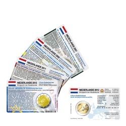 Set - alle Münzkarten Niederlande für 2-Euro Gedenkmünzen