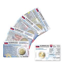 Set - alle Münzkarten (ohne Münze) Slowakei für 2-Euro Gedenkmünzen