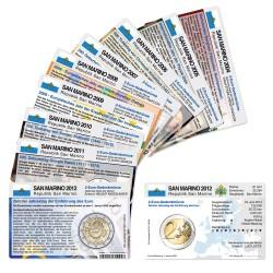 Set - alle Münzkarten San Marino für 2-Euro Gedenkmünzen
