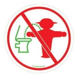 Aufkleber Toilettenschild Ampelmann Steher - Nicht im Stehen Pinkeln -