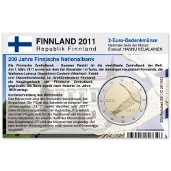 Münzkarte für 2-Euro Gedenkmünze Finnland 2011