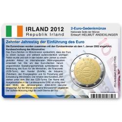 Münzkarte (ohne Münze) für 2-Euro Gemeinschaftsmünze Irland 2012