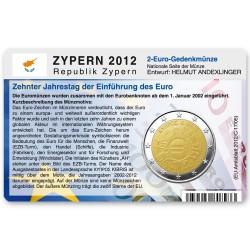 Münzkarte für 2-Euro Gemeinschaftsmünze Zypern 2012