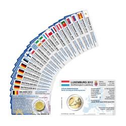 Set - alle Münzkarten für 2-Euro Gemeinschaftsmünzen 10 Jahre Euro 2012