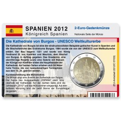 Münzkarte für 2-Euro Gedenkmünze Spanien 2012