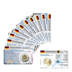 Set - alle Münzkarten (ohne Münze) für 2-Euro Gedenkmünzen Deutschland A,D,F,G oder J