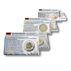 58 Münzkarten (17 Länder) für 2-Euro Gemeinschaftsmünzen 2007, 2009 und 2012