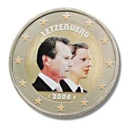 Farbige 2 Euro Sonderm�nze Luxemburg 2006 - Guillaume Henri pfr.