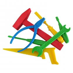 Werkzeugset aus Kunststoff Der kleine Handwerksmeister 7-teilig