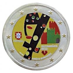 Farbige 2 Euro Sondermünze Portugal 2012 - Guimaraes pfr.