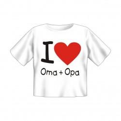 Baby T-Shirt bedruckt - I love Oma und Opa