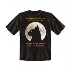 T-Shirt mit Motiv/Spruch Augen einer Katze Fenster