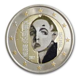 Farbige 2 Euro Gedenkmünze Finnland 2012 - Schjerfbeck pfr.