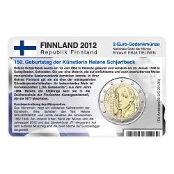 M�nzkarte f�r 2-Euro Gedenkm�nze Finnland 2012