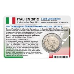 Münzkarte für 2-Euro Gedenkmünze Italien 2012