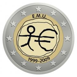 Aufkleber für Münzboxen 10 Jahre Euro WWU / EMU 1999 - 2009