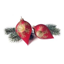 weihnachtskugeln 4er pack rot gold in tropfenform olshop. Black Bedroom Furniture Sets. Home Design Ideas