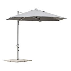 belardo sonnenschirm mit 5er led beleuchtung 350 cm grau. Black Bedroom Furniture Sets. Home Design Ideas