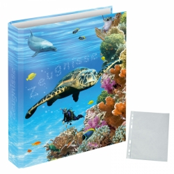 "Zeugnismappe ""Unten im Meer"" inkl. 10er Pack Prospekthüllen DIN A4"