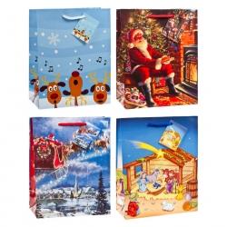 TSI 12er Pack Geschenktüte mittel 18 x 10 x 23 Weihnachten KINDER 15