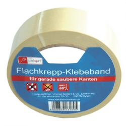 Flachkreppband / Lackierklebeband Uniqat Kreppband 38MMX50MTR. 220