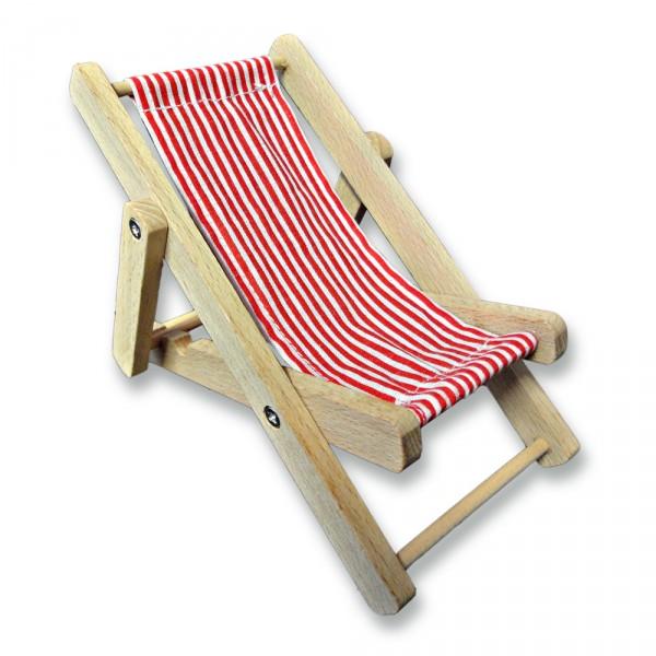 handy liegestuhl handyhalter aus holz und stoff abmessungen ca 12 x 9 x 9 cm. Black Bedroom Furniture Sets. Home Design Ideas