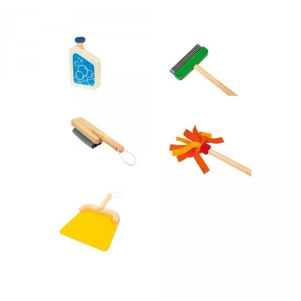 holzspielzeug putzwagen f r die kinderk che spielk che mit. Black Bedroom Furniture Sets. Home Design Ideas