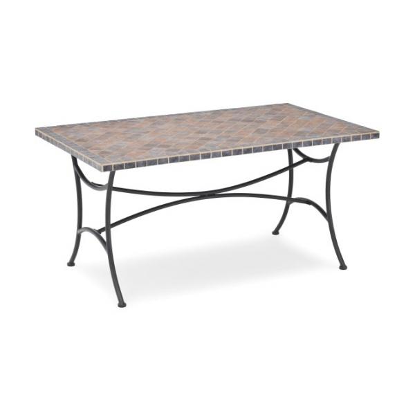 belardo astena gartentisch rechteckig tischplatte aus keramikfliesen ebay. Black Bedroom Furniture Sets. Home Design Ideas