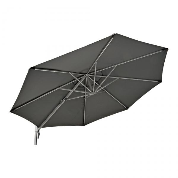 belardo sonnenschirm mit 3er led beleuchtung 300 cm grau. Black Bedroom Furniture Sets. Home Design Ideas
