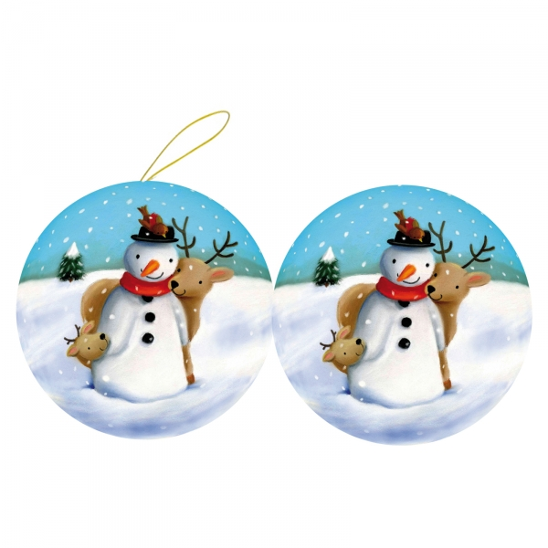 3er set weihnachtskugeln zum bef llen 10 cm schneegest ber weihnachtsdeko ebay. Black Bedroom Furniture Sets. Home Design Ideas