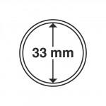 Münzkapseln Innendurchmesser 33 mm 10er-Pack
