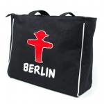Einkaufstasche Shopper schwarz mit Ampelmann-Motiv
