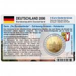 Münzkarte (ohne Münze) für 2-Euro Gedenkmünze Deutschland F 2006
