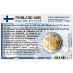 Münzkarte (ohne Münze) für 2-Euro Gedenkmünze Finnland 2005