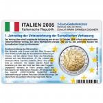 Münzkarte (ohne Münze) für 2-Euro Gedenkmünze Italien 2005