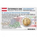 Münzkarte (ohne Münze) für 2-Euro Gedenkmünze Österreich 2005