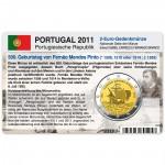 Münzkarte (ohne Münze) für 2-Euro Gedenkmünze Portugal 2011